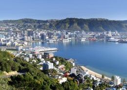 Wellington et son port depuis Mt Victoria